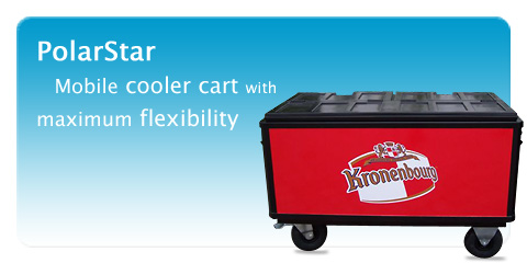 Mobile cooler cart