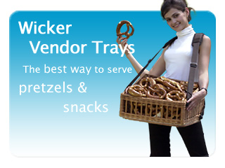 Wicker vendor tray